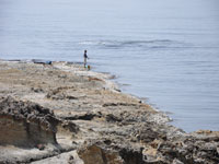 五色浜の岩場