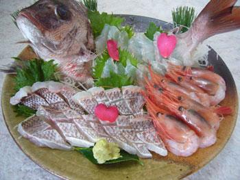 姿造りの内容は、当日の魚の仕入れにより異なります。
